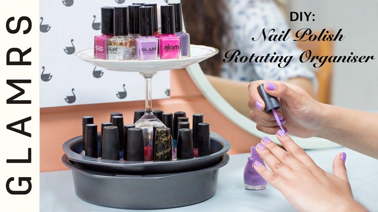 Diy Rotating Desk Organizer Easy To Make Kitchen Accessories Nailpolish Stand Glamrs