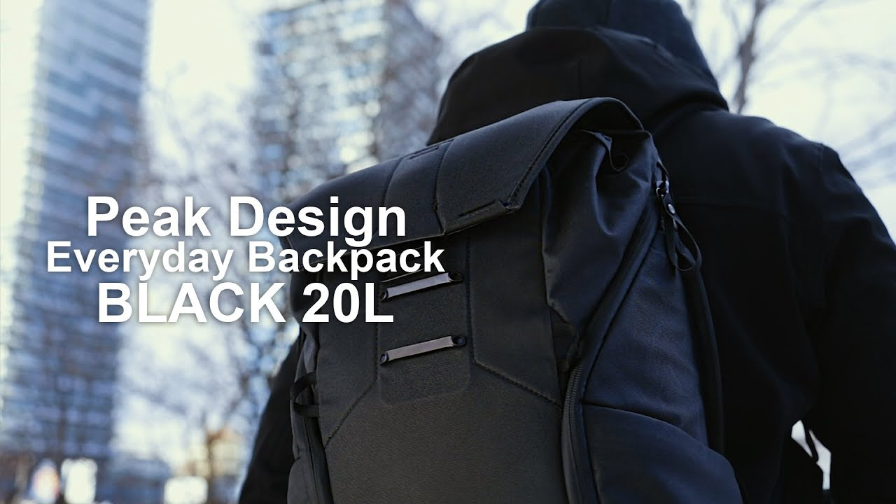 2f96c6fc7b5 All Black - Peak Design Everyday Backpack - in 4k - YouTube