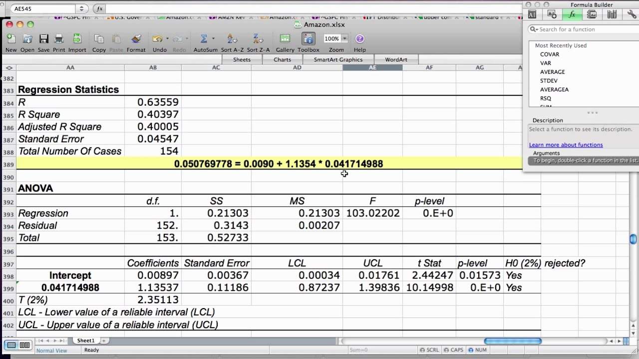 Explanation Of Regression Analysis Results YouTube