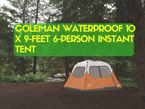 Coleman Waterproof 10 X 9-Feet 6-Person Instant Tent & CORE 9 Person Instant Cabin Tent - 14u0027 x 9u0027