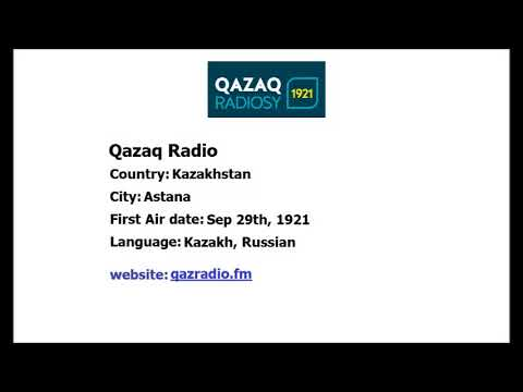 Qazaq Radio from Kazakhstan sign off and sign on