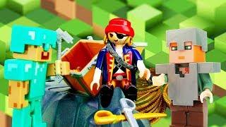 Видео игры для мальчиков - Стив Майнкрафт и сокровища пиратов!