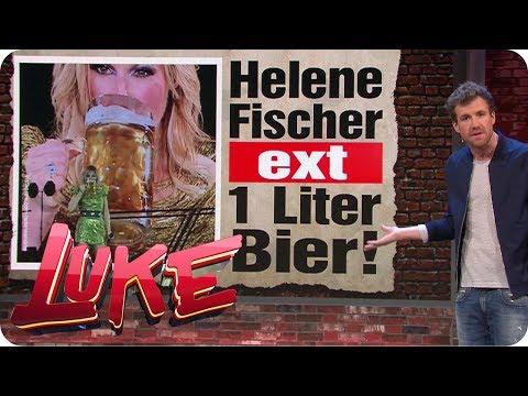 Unfassbar: Helene Fischer ext 1 Liter Bier! - Luke! Die Woche und ich | SAT.1