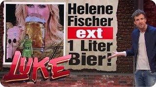 Unfassbar: Helene Fischer ext 1 Liter Bier!