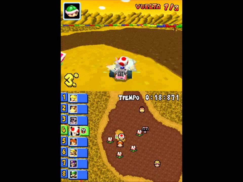 Mario Kart DS - Lightning Cup: SNES Isla Chocolate (Choco Island)