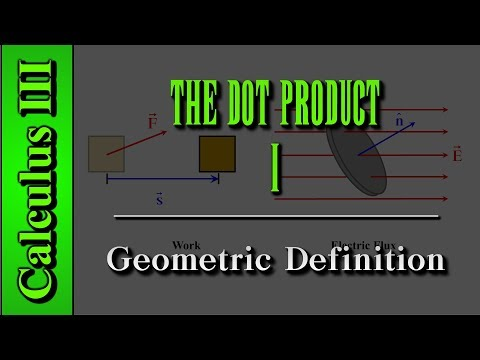 Calculus III: The Dot Product (Level 1 of 12)   Geometric Definition