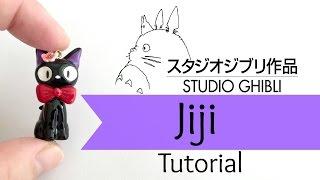 diy studio ghibli jiji cat charm  polymer clay  tutorial collab w berrywhimsy