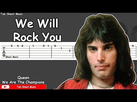 Queen - We Will Rock You Guitar Tutorial