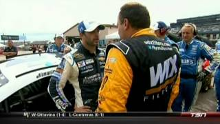 Jimmie Johnson Ryan Newman Argument After Pure Michigan 400