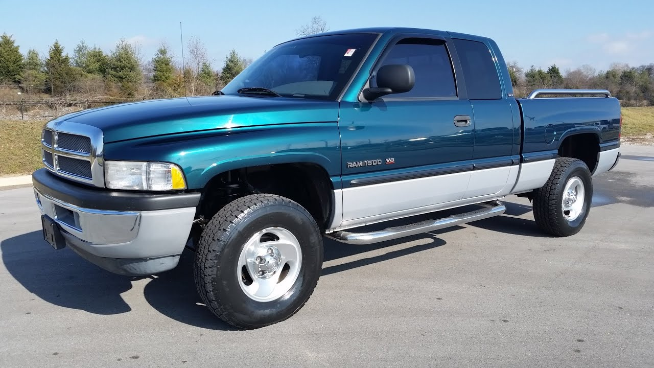 sold 1999 dodge ram 1500 slt laramie quad cab 4x4 5 9 magnum v8 78k call 855 5078520 youtube [ 2048 x 1152 Pixel ]