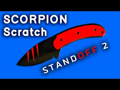 knife-scorpion-scratch-standoff-2-with-your-own-hands-from-the-ruler.-how-to-make-from-wood