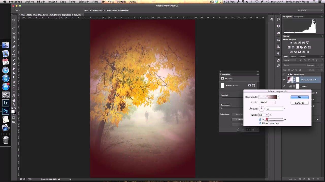 Oscurecer los bordes de tu Fotografia en Photoshop