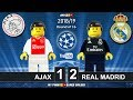 Ajax vs Real Madrid 1-2 • Champions League 2019 (13/02/2019) • All Goals Highlights Lego Football
