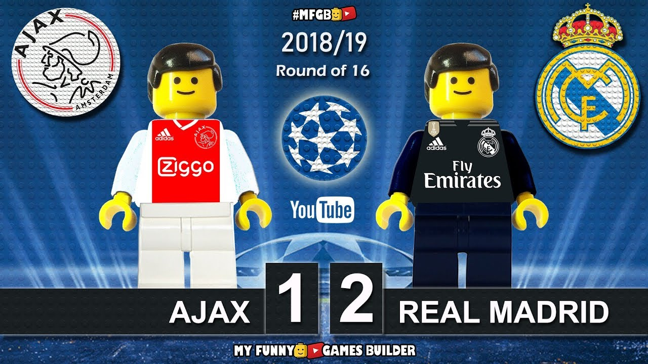 Download Ajax vs Real Madrid 1-2 • Champions League 2019 (13/02/2019) • All Goals Highlights Lego Football