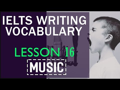 IELTS Vocabulary band 8| Lesson 16 Music