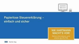 Steuerverwaltung Zug: Papierlose Steuererklärung (lang)