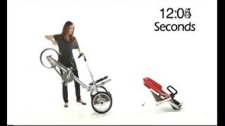 Как собрать и разобрать велосипед-коляску за 20 секунд(Как собрать и разобрать велосипед-коляску за 20 секунд., 2016-04-23T18:14:57.000Z)