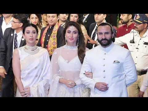 Kareena Kapoor, Saif Ali Khan, Karishma Kapoor At Isha Ambani Wedding Mp3