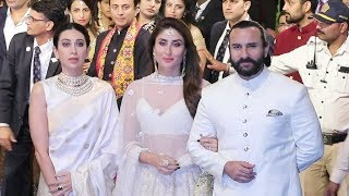 Kareena Kapoor, Saif Ali Khan, Karishma Kapoor At Isha Ambani Wedding