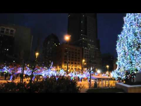 Downtown Cleveland Christmas Holiday Lights 2011