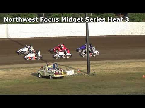 Grays Harbor Raceway, 2019 Fred Brownfield Classic, Night 1, NW Focus Midgets Heat Races 1,2 and 3