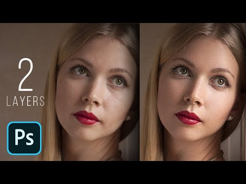 High-End Skin Retouching with Just 2 Layers! - Photoshop Tutorial