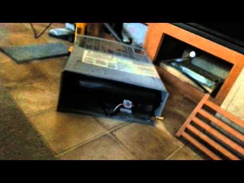 Removing propane furnace RV heater