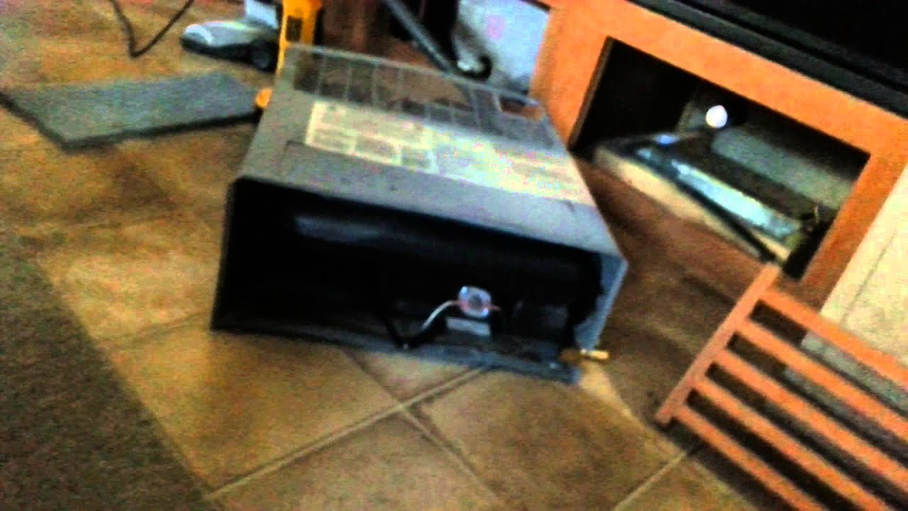 Removing propane furnace RV heater  YouTube
