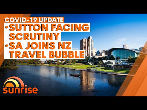 COVID-19 Update: Sutton faces scrutiny over inquiry testimony, SA joins NZ travel bubble | 7NEWS