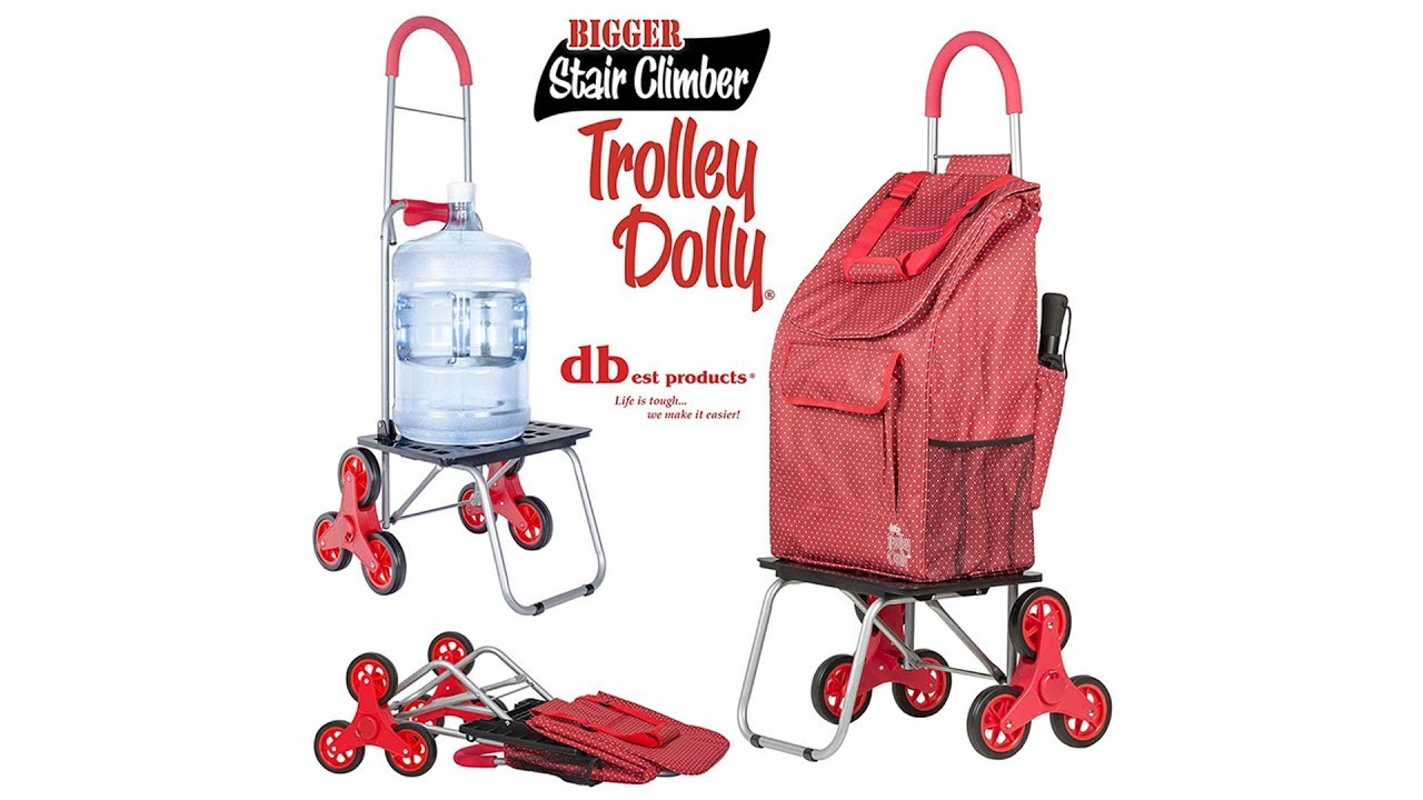 Stair Climber Bigger Trolley Dolly Shopping Cart