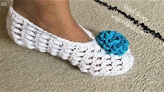 DIY How to Crochet Adult Slippers