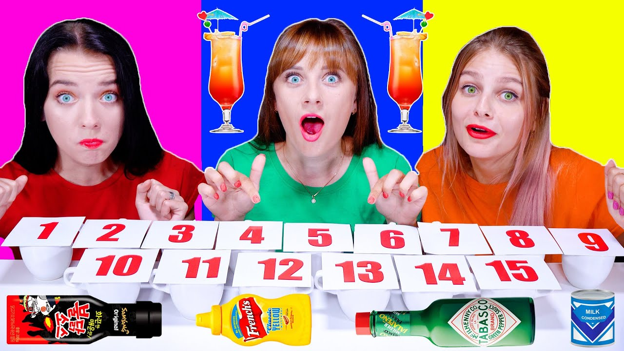 ASMR Cocktail Mix Challenge By LiLiBu (Cups with Numbers and Drinks)