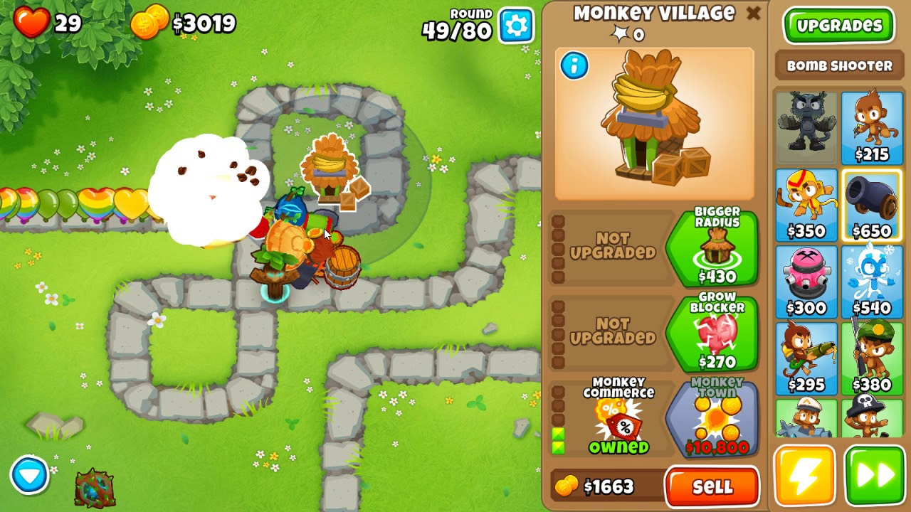 Bloons TD 6 - Monkey Meadow - Half Cash - No Monkey Knowledge, Continues  and Powers (7 0 patch)