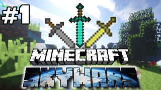 DOUBLE VICTORY! - Minecraft Skywars PvP [EP 1] - MinePixel Skywars PvP Maps and Wins!