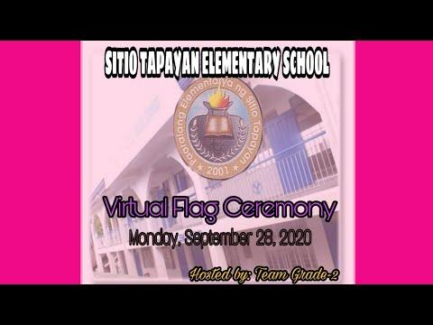 SITIO TAPAYAN ES VIRTUAL FLAG CEREMONY (Monday, September 28, 2020)