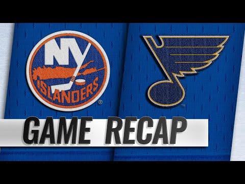 Islanders score three in the 3rd to beat Blues