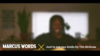 Just to see you smile - acoustic cover video by Marcus Words
