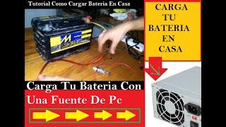 Como cargar  Bateria de Auto Sin Cargador