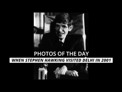 Photos Of The Day: When Stephen Hawking Visited Delhi In 2001