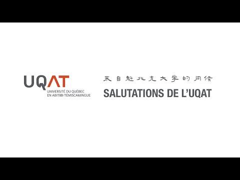 来自魁北克大学的问候|Salutations De L'UQAT|加油,中国!|抗击COVID-19, 与你同在|Bon Courage, La Chine