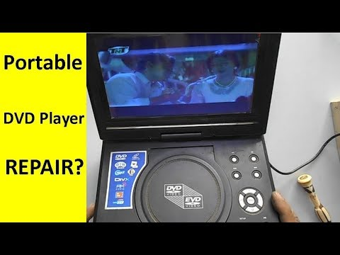 how to repair portable dvd player youtube. Black Bedroom Furniture Sets. Home Design Ideas