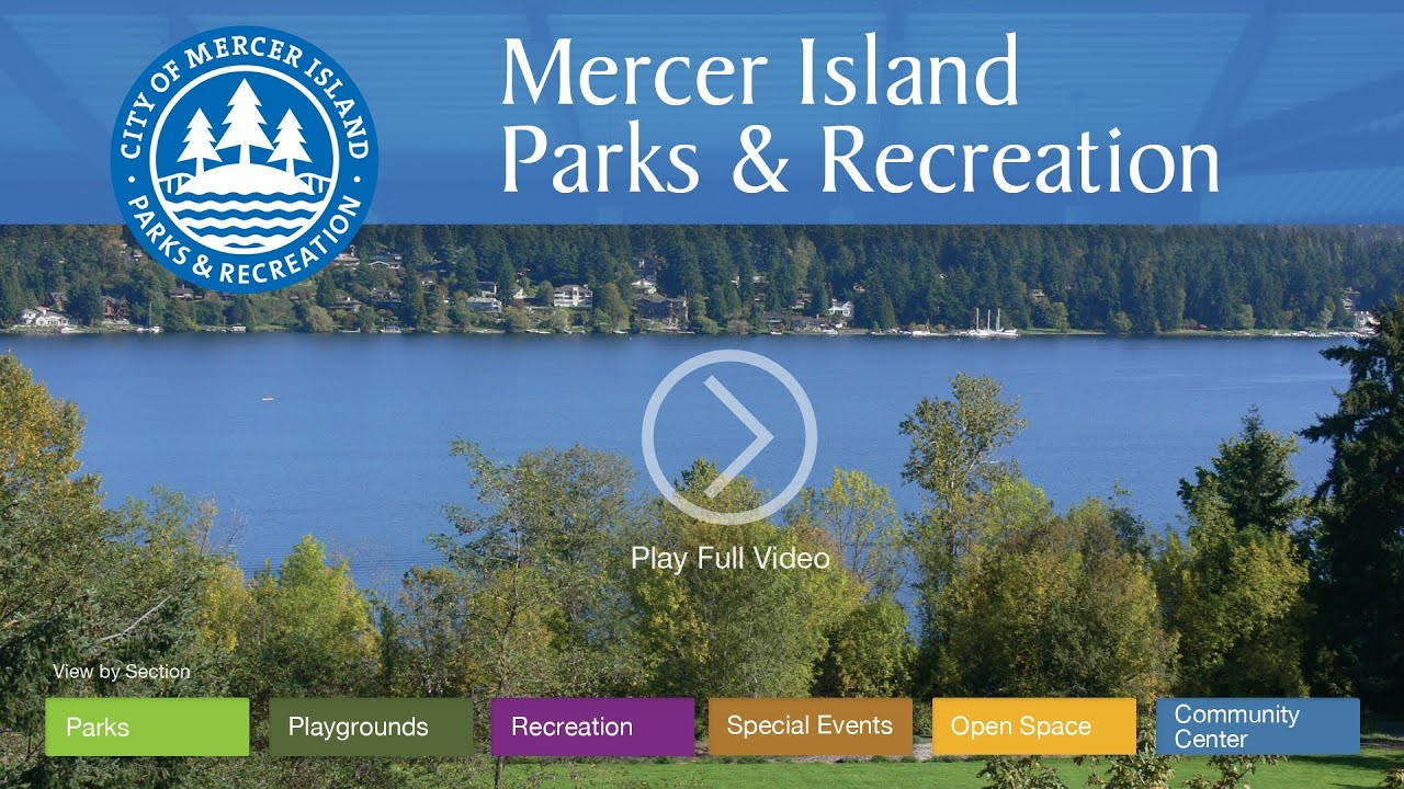 City of Mercer Island - Parks & Recreation Homepage