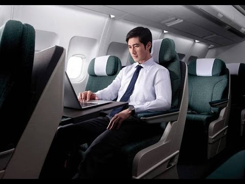 Dragonair Business Class flight, Hanoi to Hong Kong, KA296