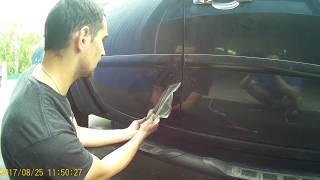 снятие пленки с машины