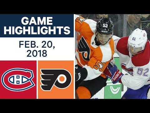 NHL Game Highlights | Canadiens vs. Flyers - Feb. 20, 2018
