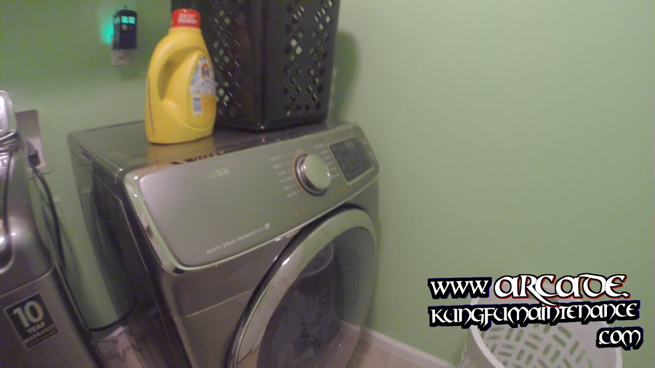 Easiest Way To Clean Out Laundry Lint Filter On Samsung Eco Dry Steam Dryer  Maintenance Repair Video