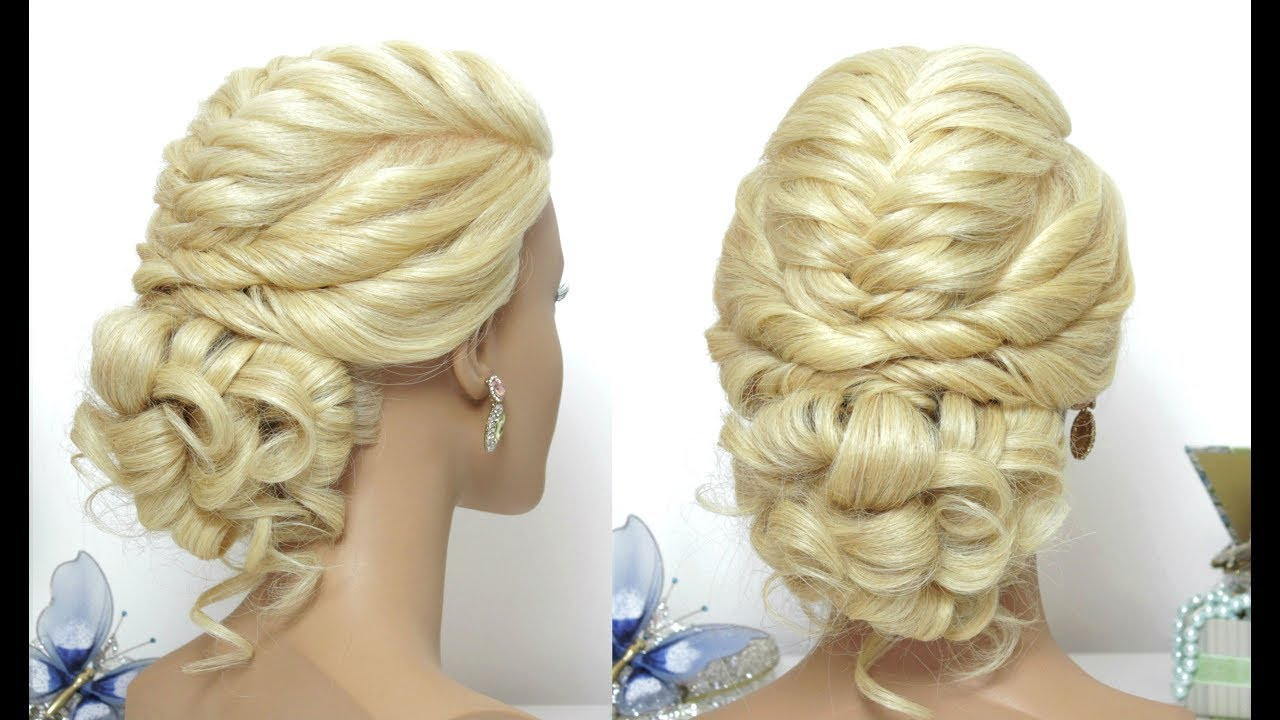 Party Messy Bun Hairstyle For Long Hair