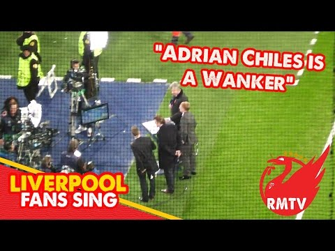 "Liverpool Fans Sing ""Adrian Chiles is a Wanker"" in the Bernabeu"