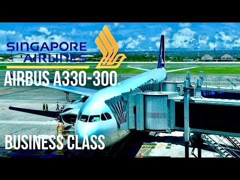 Singapore Airlines Business Class Airbus A330 Bali to Singapore
