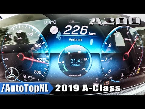 Mercedes Benz A Class 2019 A200 0-226km/h ACCELERATION & TOP SPEED by AutoTopNL